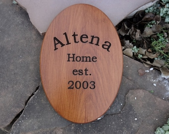 Personalized Family Name Sign with Engraved Letters