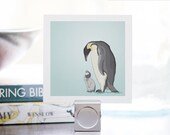 Mini Print - Penguins - Illustrated Print - 3x3 Archival Matte