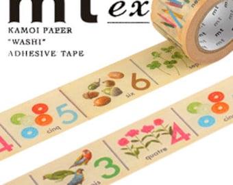 MT Washi Masking Deco Tape EX Numbers Design