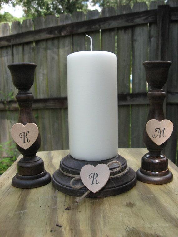 Wedding Unity Candle Set Unity Candle Holder Set Unity