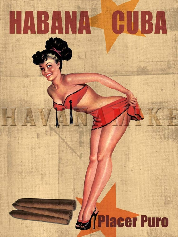 Vintage Pin Up Girl Poster