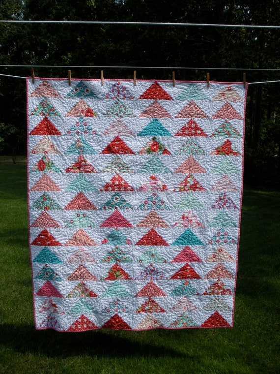 Handmade baby/crib quilt for a sweet little girl. Free shipping in the US.