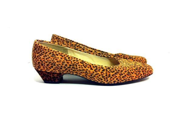 80s Cheetah Print Low Heels 7 - Leopard Print Pumps