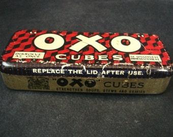 Wonderful Antique OXO TIN BOX  - Tin Box -   Food