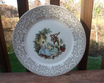 "CLEARANCE......Triumph American Limoges China Dinner Plate, Serenade Pattern,  10"" China D'Or Dinner Plate"