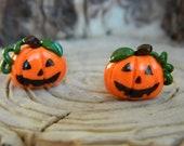 Halloween Jack o Lantern studs