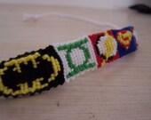 handmade superhero embroidery floss friendship bracelet