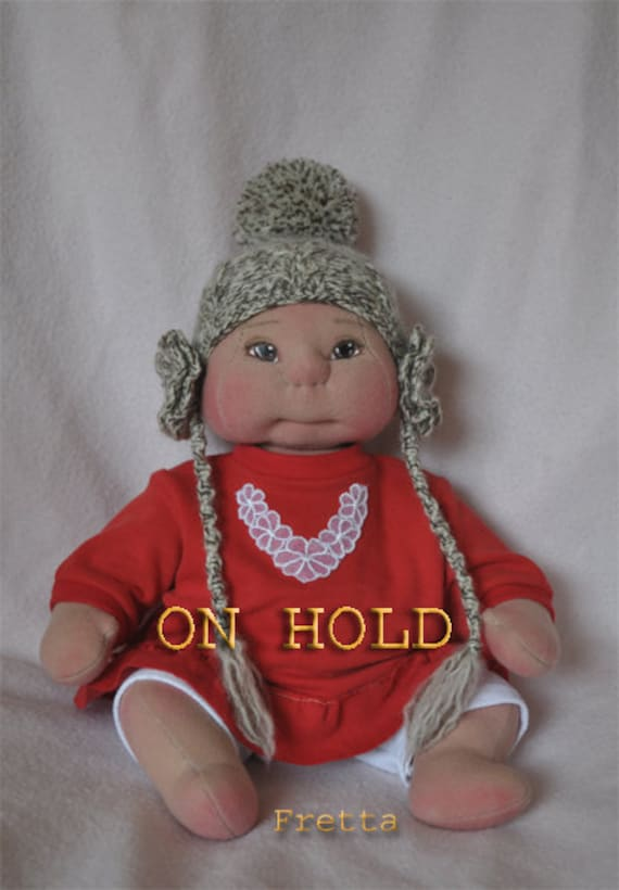 RESERVED. OOAK Cloth Baby Girl, Soft Sculptured Baby or Toddler Girl.