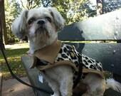 Leopard fleece coat by FiercePetFashion