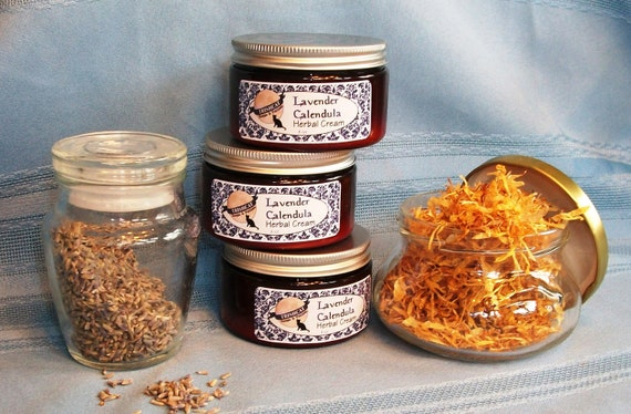 Lavender Calendula Chamomile Herbal Cream by TrishCatSoaps