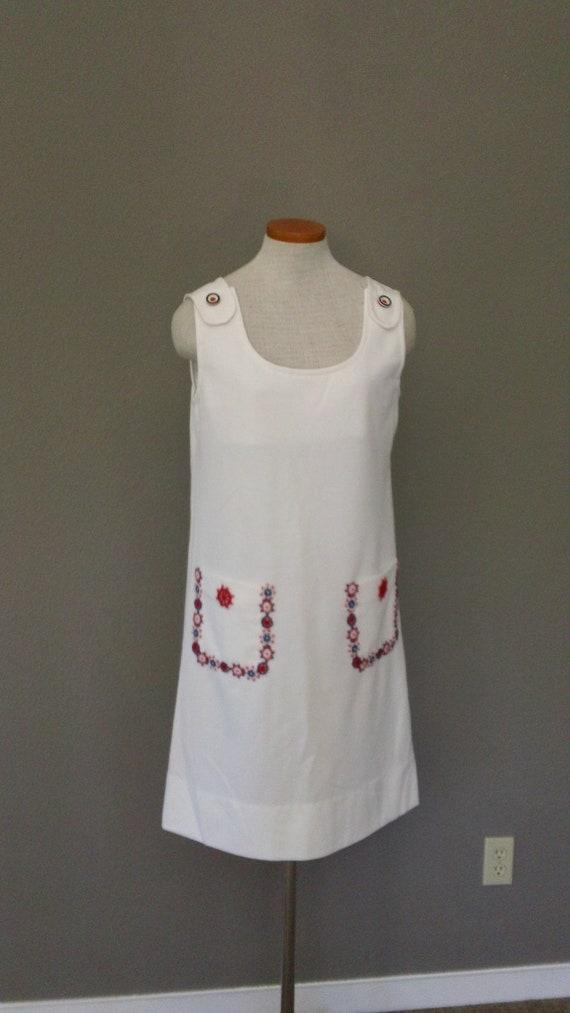 60s Nautical Fun Plus Size Summer Jumper Dress