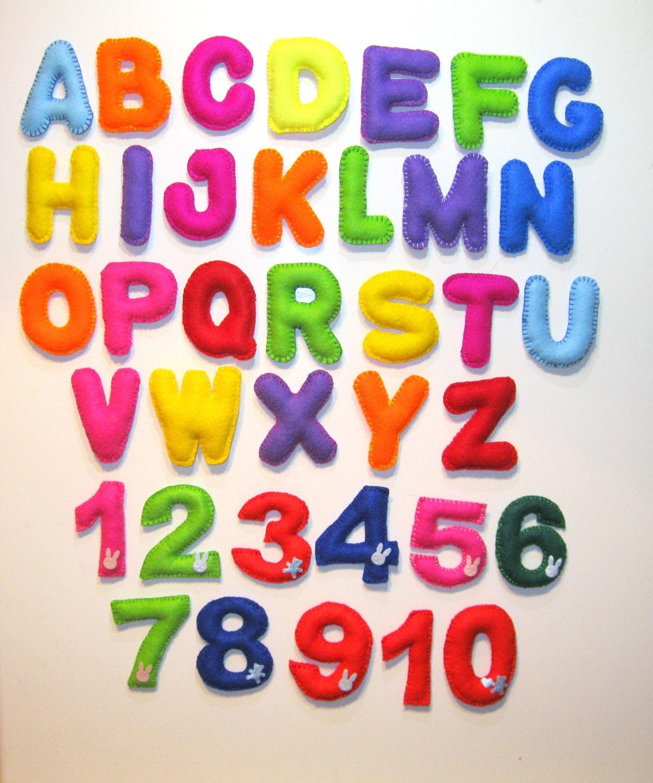 Magnet Alphabet Felt Alphabet Magnet by LadybugOnChamomile