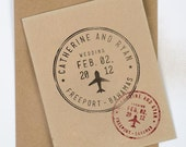 Passport Wedding Stamp, Personalized Destination Wedding Stamp, Destination wedding stamp, passport style stamp wedding, save the date stamp