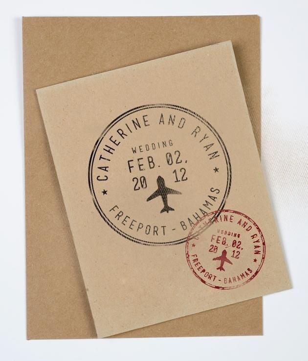 Passport Wedding Stamp Personalized Destination Wedding