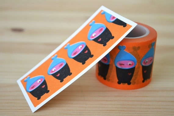 Winking Boy with Hat Paper Washi Tape