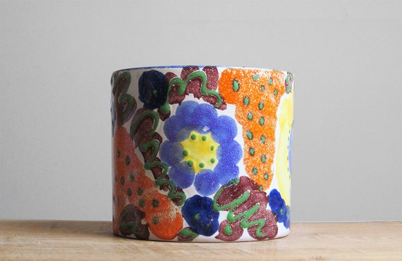 Hand painted West German planter by Marei Keramik