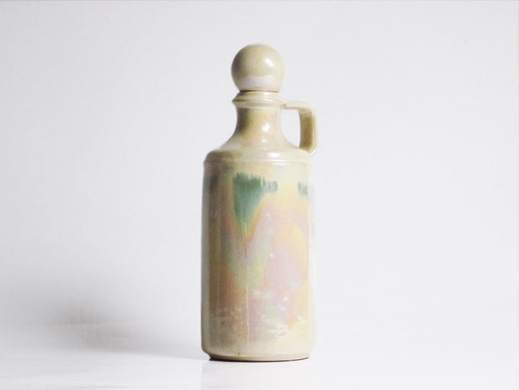 """Vintage ceramic carafe with a """"bubble"""" stopper"""