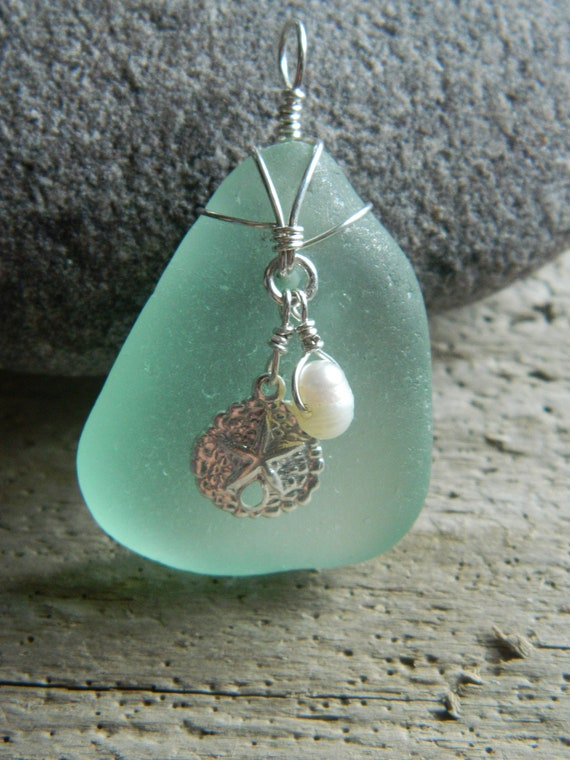 Genuine Sea Foam Sea Glass Pendant