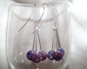 Beautiful Lepidolite Drop Earrings - TheBlueEyedBeader