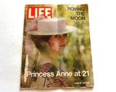 Vintage Life Magazine, Princess Anne at 21, August 20, 1971, 70's Magazine, Vintage Magazine