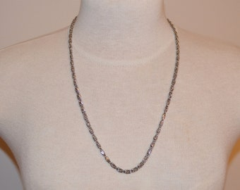 Silver Necklace, Vintage Chain Necklace, Women's Long Necklace, Vintage Jewelry