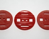 Red Vintage Bakelite Buttons