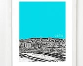 Oslo Norway Poster - City Skyline Art Print - BugsyAndSprite