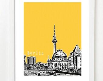Berlin Poster - Berlin Germany City Skyline Art Print - Berlin Art Print