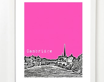 Cambridge Ontario Print - Cambridge ON City Skyline Series Canada Poster -