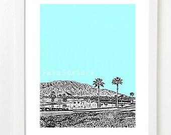 Palm Springs Art Print - Palm Springs City Skyline Poster - Palm Springs California
