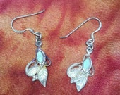 Sterling Silver and Turquoise Hooked Earrings