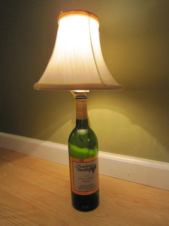 cork stopper lamp kit make your own lamp. Black Bedroom Furniture Sets. Home Design Ideas