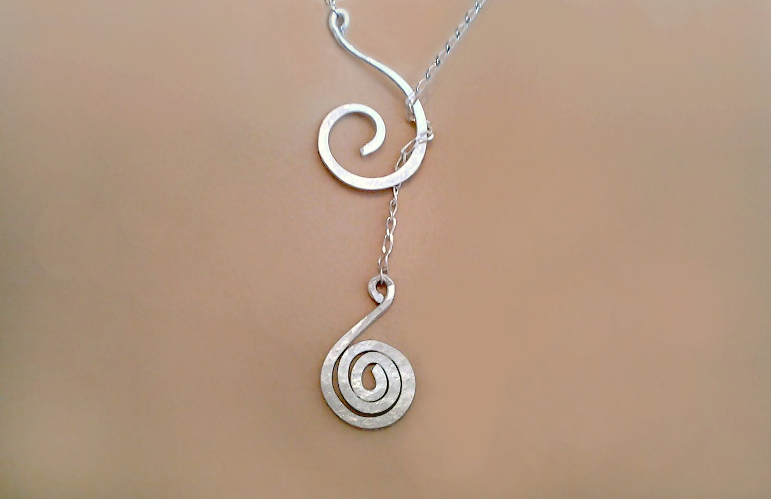 spiral necklace lariat necklace with special meaning silver. Black Bedroom Furniture Sets. Home Design Ideas