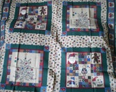 Country Christmas Pillow Fabric Squares