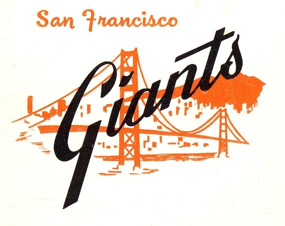 San Francisco Giants Stadium Wallpaper: Items Similar To Matchbook Art