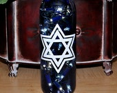 Star of David Wine Bottle Lights - Bat Mitzva Bar Mitzva Hanukkah Gift