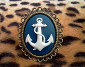 Blue and White Anchor Ring