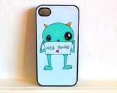 Cute Monster iPhone 4/4S case Original Artwork