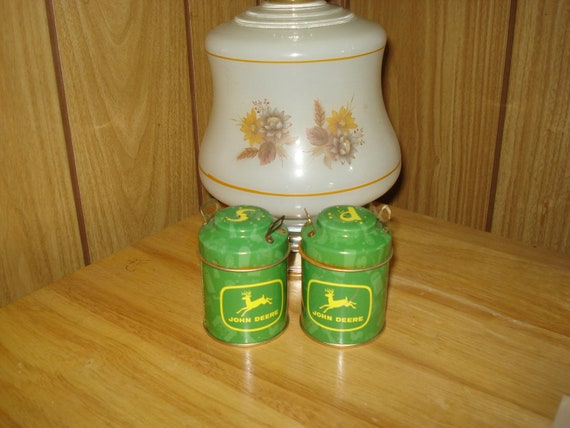 Vintage Salt and Pepper Shakers John Deere Licensed Product