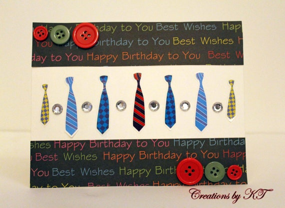 Happy Birthday Card For a Man Happy Birthday Card Guy Ties