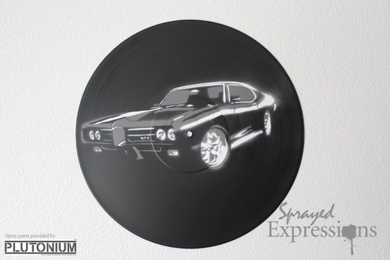 1969 GTO Vinyl Record Painting