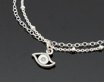 Evil Eye Bracelet - Sterling Silver.