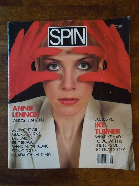 RARE 1985 SPIN Magazine Vol. 1 No. 4  FREE Shipping Annie Lennox