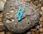 Sleek Straight Turquosie Stone Earrings