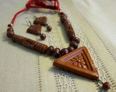 Terracotta Necklace Earring Set Traditional Folk India
