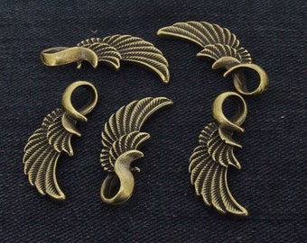 Charm Wings Pendants bronze Plated Victorian Pendants Beads -----10mmx 32mm ----- 2C