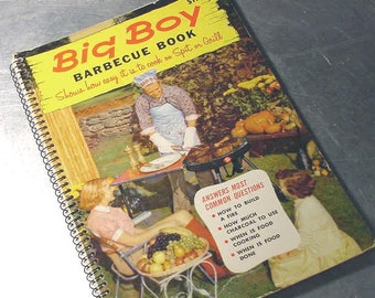 Cookbook Barbecue BIG BOY Spit Grill Vintage Summer Fathers Day