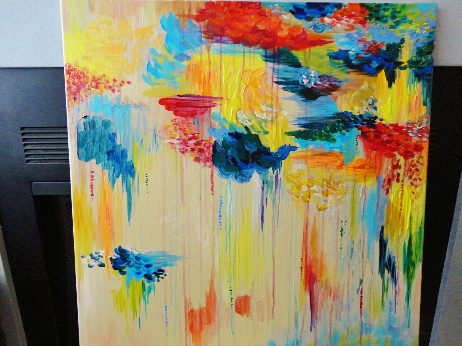 Custom abstract acrylic painting huge 30 x 30 made to order for Custom acrylic paint