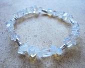 Moonstone and Sterling Silver Snow Flower Bracelet