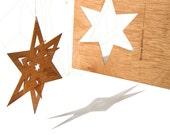 postcard wood - 3 folding star cards